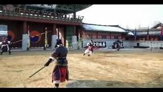 Twenty-four martial arts at Hwaseong Haenggung
