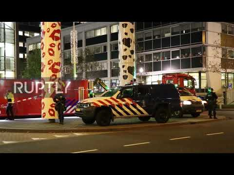 Netherlands: Emergency services work at Amsterdam airport after false hijacking alarm