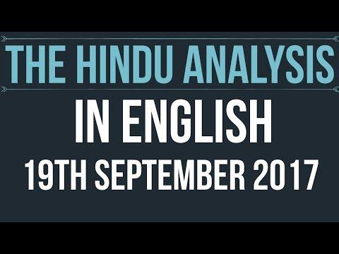 English) 19 September 2017-The Hindu Editorial News Paper Analysis- [UPSC/ SSC/ RBI Grade B/ IBPS]