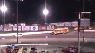 Eagle Raceway Bus Race on 6-14-14