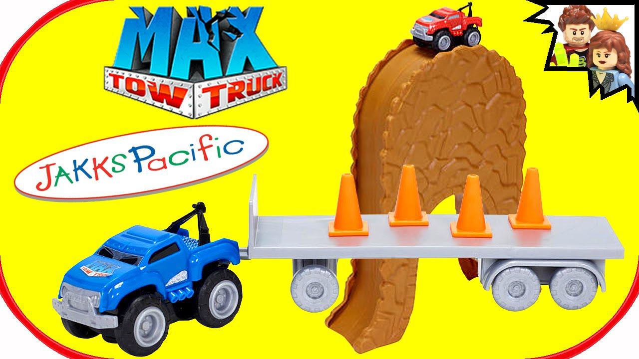 Max Tow Truck Mini Haulers Jakks Pacific Review Brickqueen Youtube