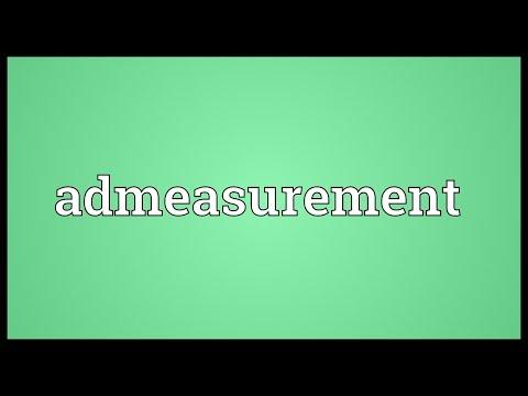 Header of admeasurement