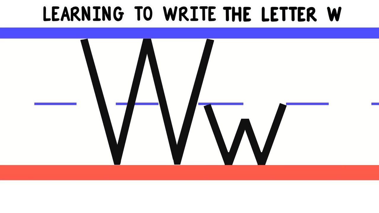Write the Letter W - ABC Writing for Kids - Alphabet Handwriting by 10ABCtv