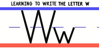 Write the Letter W - ABC Writing for Kids - Alphabet Handwriting by 123ABCtv
