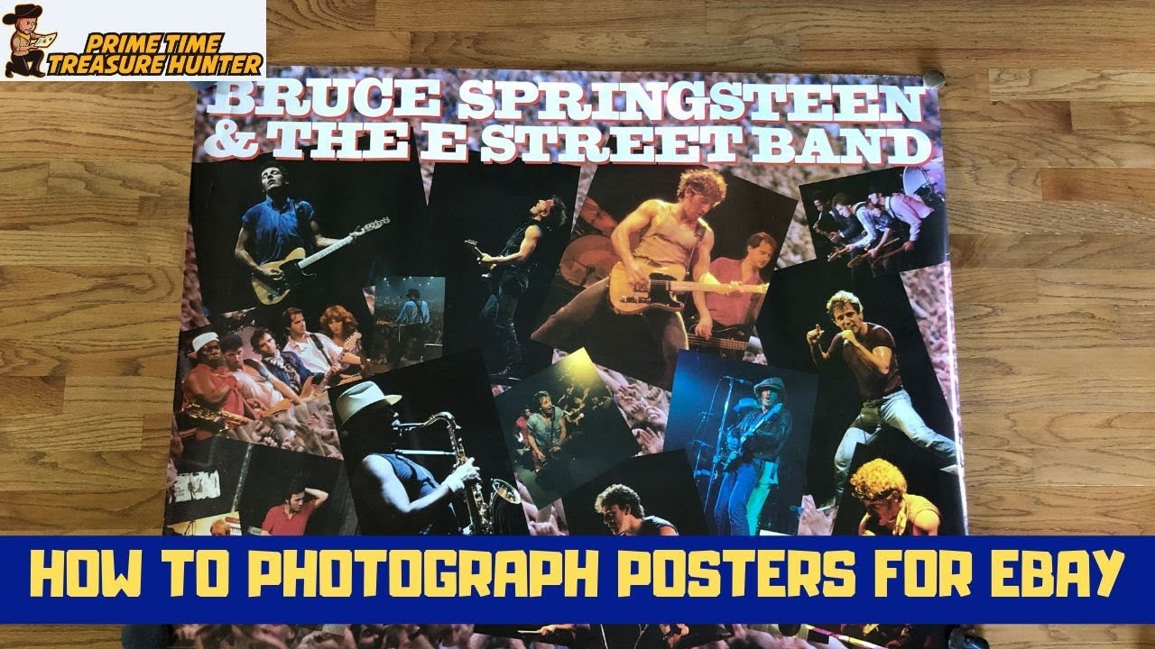 How to Photograph Posters for Ebay on a Budget