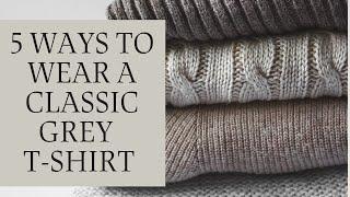 5 Ways To Wear A Classic Grey …
