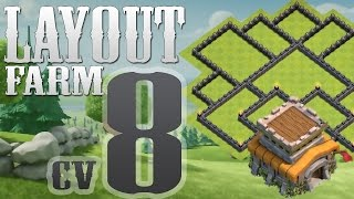 Clash Of Clans - Layout Farm Cv8 Atualizado / New Layout Farming Th8