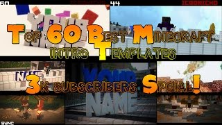 Top 60 Best Minecraft Intro Template + Free Download!!