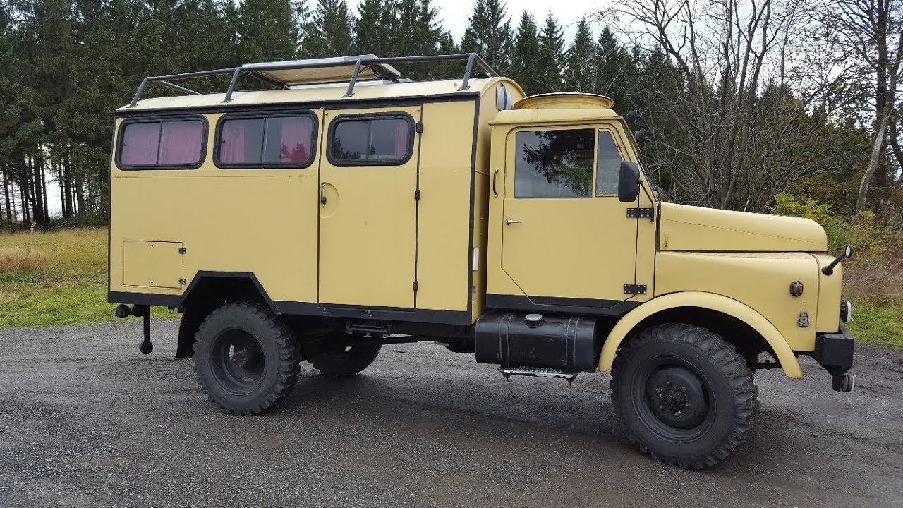 HANOMAG AL 10, Bj. 10 -- legendäres Allrad-Wohnmobil mit H-Kennzeichen