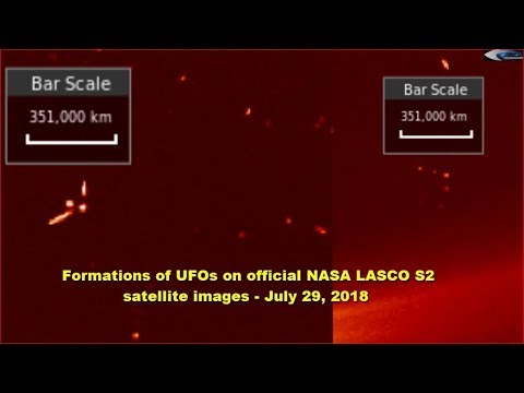 nouvel ordre mondial | Formations of UFOs on official NASA LASCO S2 satellite images - July 29, 2018