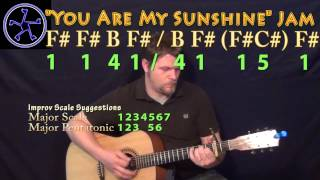 You Are My sunshine Jam in F# Major - Acoustic Guitar Instrumental