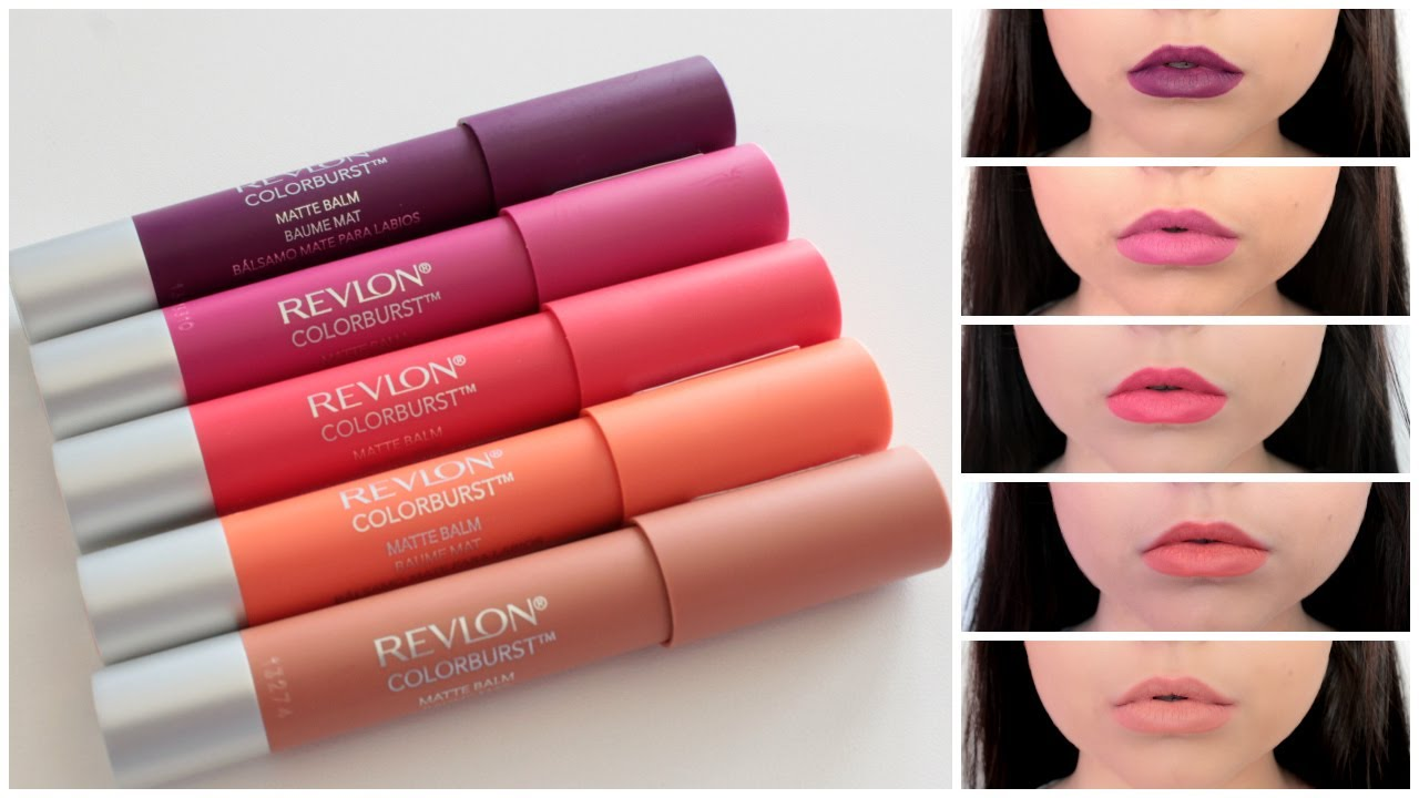 Mini Review Amp Lip Swatches Revlon ColorBurst Matte Balms