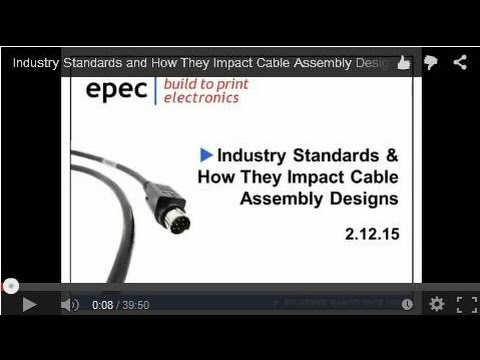 Industry Standards and How They Impact Cable Assembly Designs