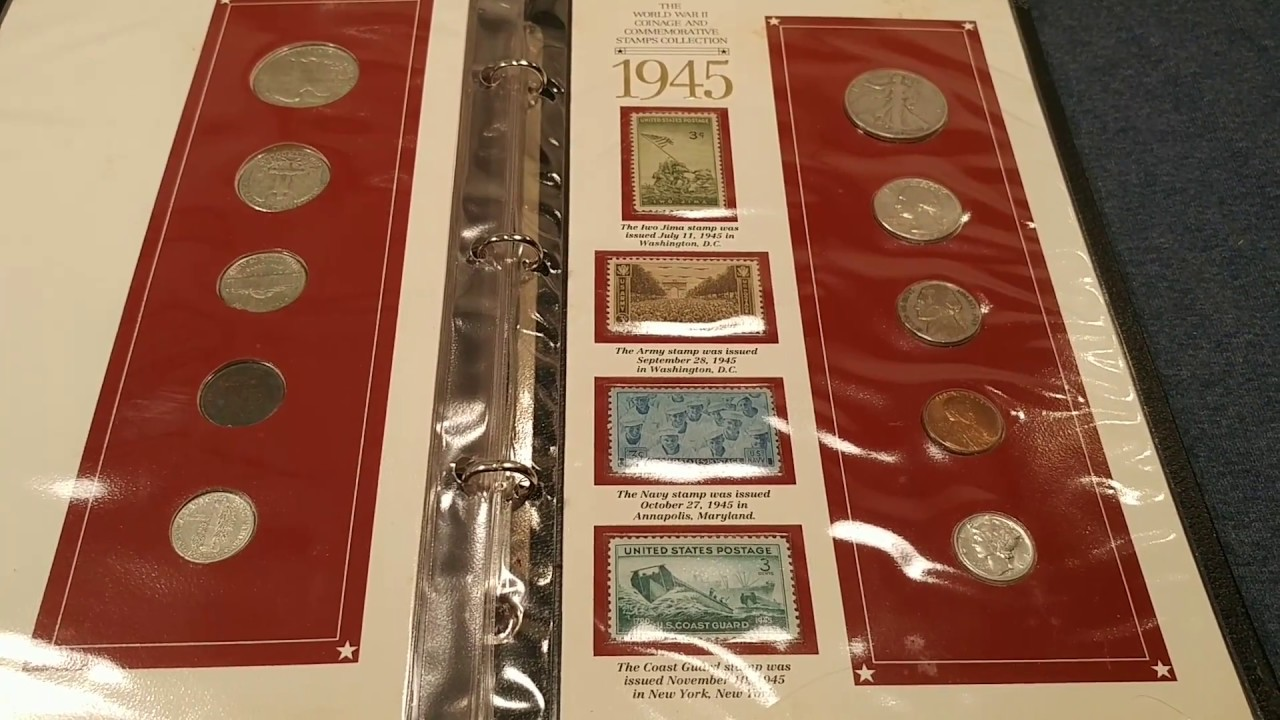 My WW2 Band Of Brothers Shadowbox And Era Coins Stamps Book