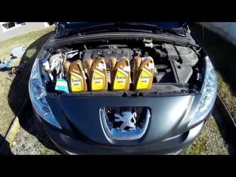 Peugeot 308  How to change the oil Eneos 0w50 and oil filter