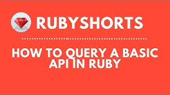 How To Query A Basic API In Ruby