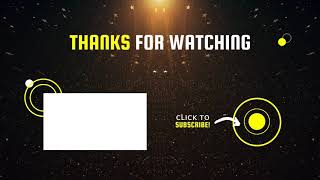 Black and Yellow Dark Gamer Survival YouTube Outro Copyright Free Download