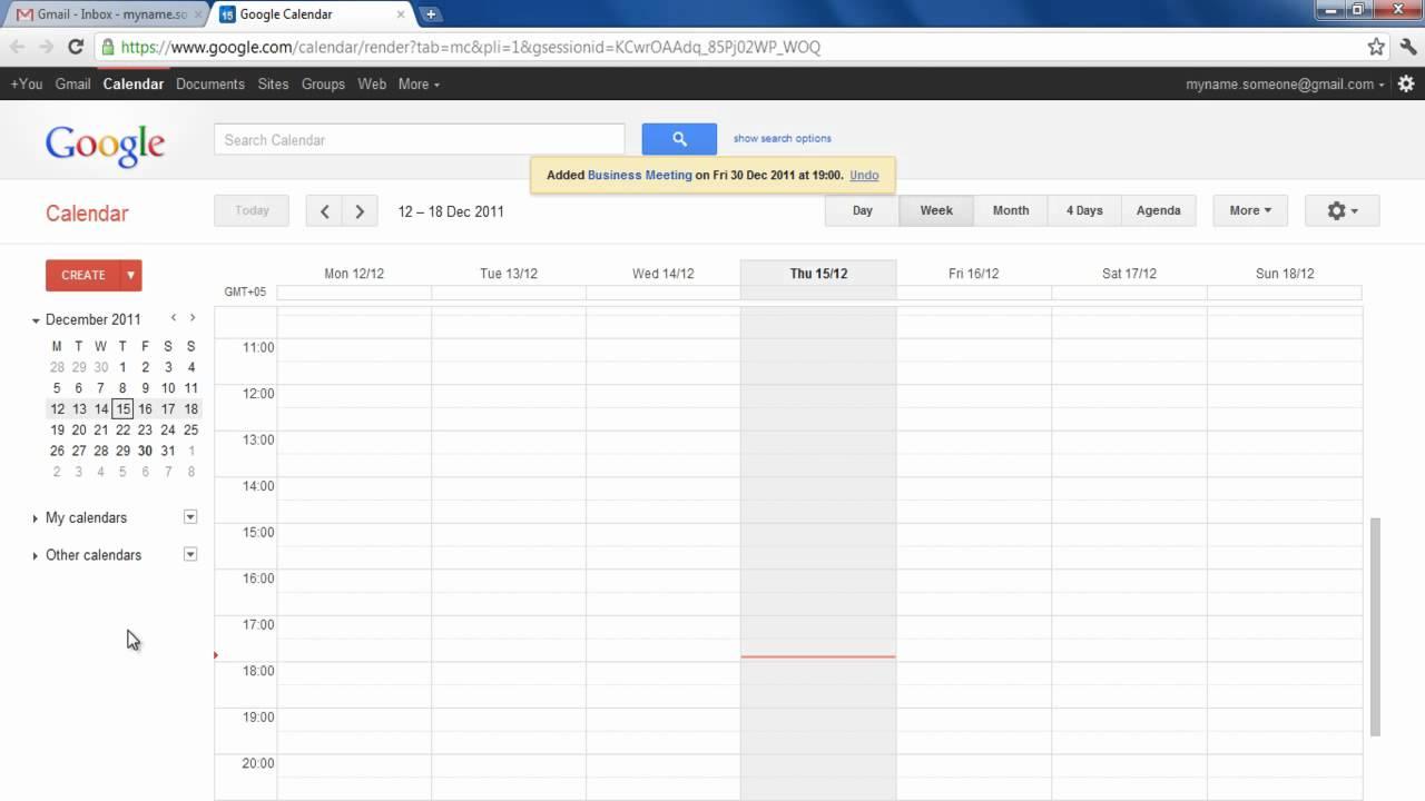 How To Use Google Calendar Youtube