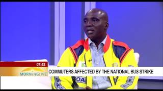 Commuters affected by the national bus strike