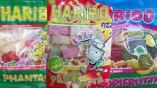 Haribo Mini Packs Top 3 Gummi Bears Compilation unboxing