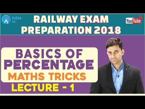 RAILWAY EXAM PREPARATION 2018 | Basics Of Percentage | Maths Tricks