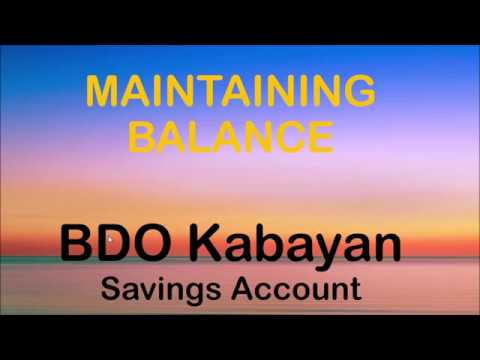 how to get a savings account in bdo
