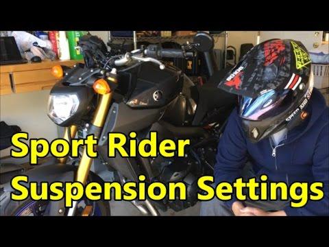 Yamaha FZ-09 Sport Rider Suspension Settings