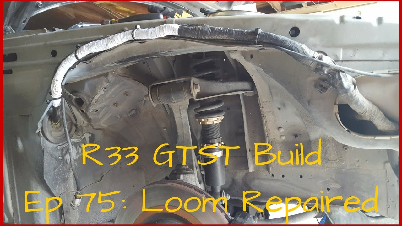 nissan skyline r33 gtst build loom repaired skyline body loom relocation mod low car mod Nissan Frontier Fuses and Relays