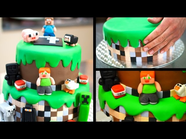 Minecraft Birthday Cake Tutorial - YouTube