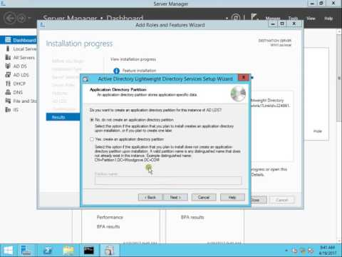 How to Configure Active Directory Lightweight Directory Access Protocol In server2012R2 Part 1