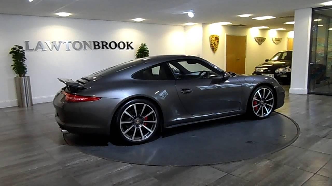 porsche 911 991 carrera 4s grey with black leather lawton brook