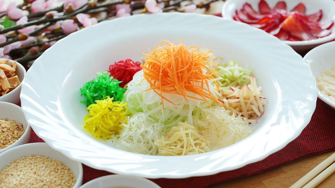 Yusheng with gin beetroot cured salmon youtube forumfinder Images