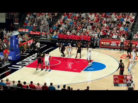 NBA 2K17 (PS4)- Atlanta Hawks vs Los Angeles Clippers - Full Game - Simulation Nation