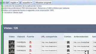 Como Ganar dinero con Youtube y Facebook, nueva aplicacion 2011 parte2/2