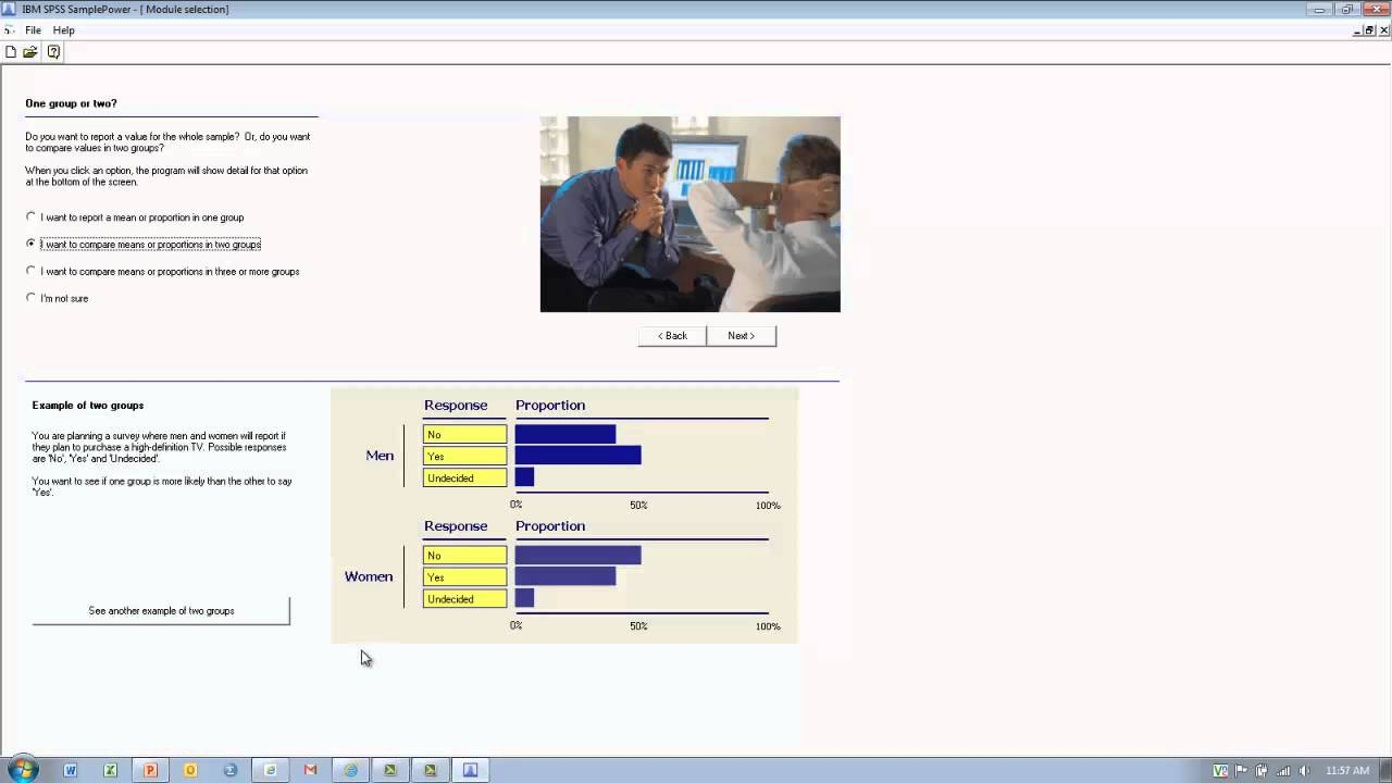How to Use SPSS: Estimating Appropriate Sample Size - YouTube