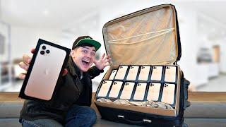 Купили на аукционе потерянный чемодан полный айфонов 11! Сколько это стоит?