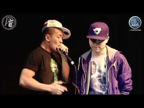 Beatboxing dharni vs krNfx  Semi final  Emperor of Mic 2011