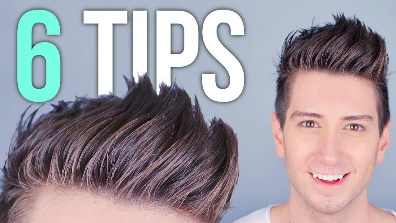 Men's Hair Styling Tips 6 Tips For Styling Tall Hair  Men's Hairstyles  Youtube