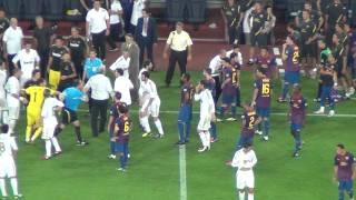 Bara Vs Real Madrid 3-2 Marcelos Fault On Fabregas  Fight 17082011 HD