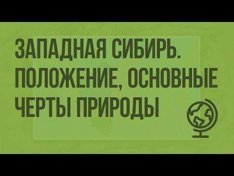 Западная Сибирь. Географическое положение, основные черты природы. Видеоурок по географии 9 класс