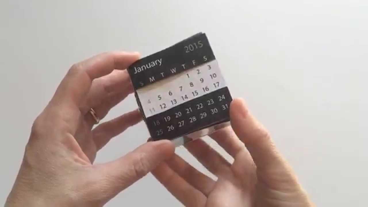 Desktop Calendar Puzzle Cube Youtube