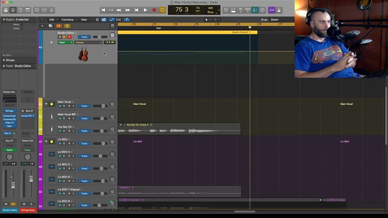 Logic Pro X : Vocal editing and track Automation