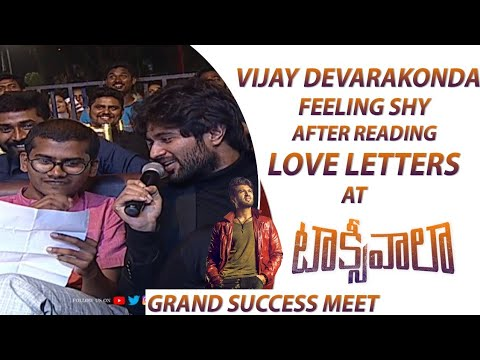 Vijay Deverakonda Feeling Shy After Reading Love Letters @ #Taxiwaala Grand Success Meet