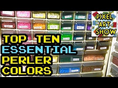 Top Ten Essential Perler Bead Colors - Pixel Art Show