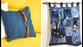 17 ideias criativas para reutilizar jeans Velhos