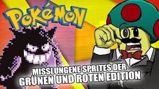 Die misslungensten POKÉMON-Sprites (feat. MythosOfGaming) [Grüne/Rote Edition]
