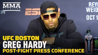UFC on ESPN 6 Post-Fight Press Conference: Greg Hardy - MMA Fighting