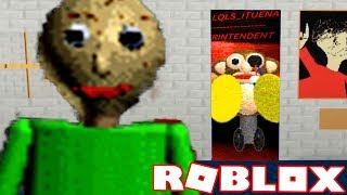 PLAYING AS BALDI AND UNLOCKING A SECRET ROOM! | Baldi's Basics in Education and Learning ROBLOX