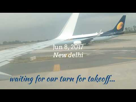 Take off from IGI Airport New Delhi - turbulence on a cloudy day