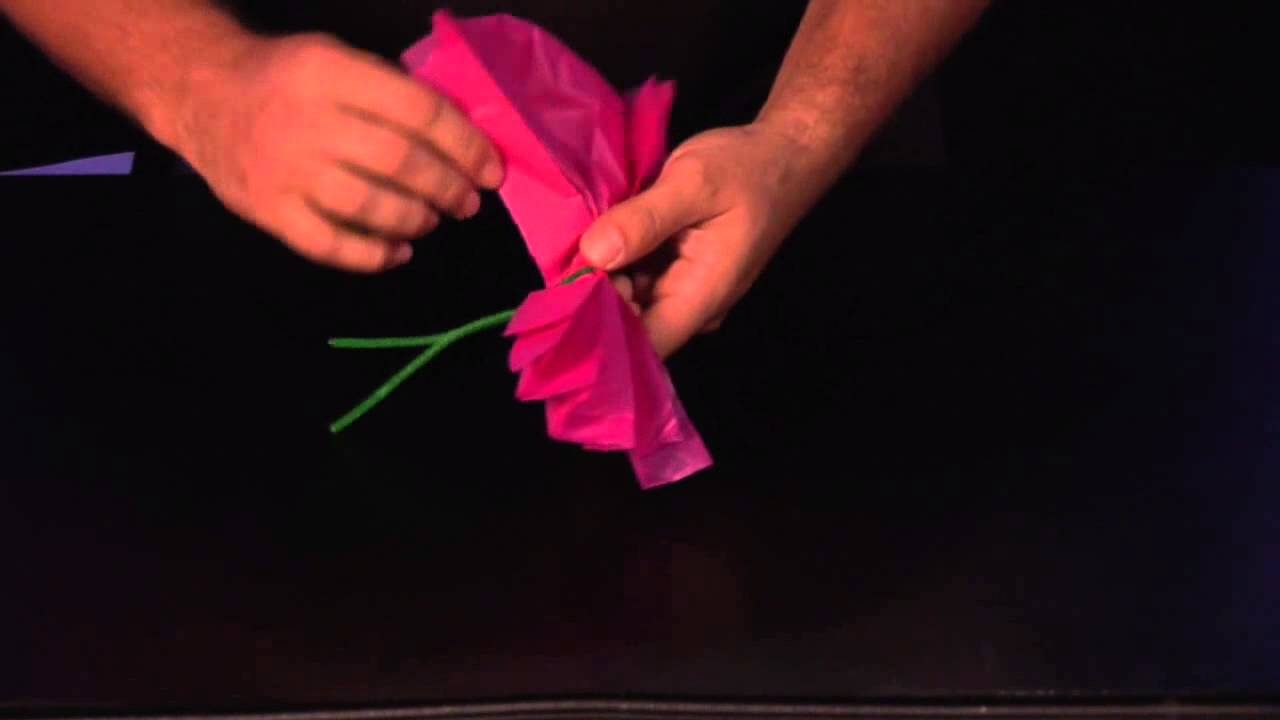 How to Make Mexican Paper Flowers   YouTube How to Make Mexican Paper Flowers